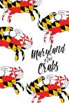 Maryland is for Crabs - Flag Pattern - Lantern Press Artwork