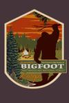 Chattahoochee National Forest, Georgia - Home of Bigfoot - Contour - Lantern Press Artwork