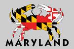Maryland - Crab Flag - Contour - Lantern Press Artwork