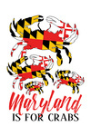 Maryland - Maryland is for Crabs - Flag Crabs - Pattern - Contour - Lantern Press Artwork