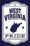 West Virginia - State Pride - Blue & White - Contour - Lantern Press Artwork