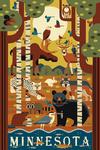 Minnesota - Forest Animals - Geometric - Lantern Press Artwork
