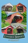 Vermont - Bridges of Vermont - Montage - Contour - Lantern Press Artwork