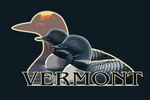 Vermont - Loons at Sunset - Contour - Lantern Press Artwork