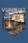 Vermont - Retro Camper & Lake - Contour - Lantern Press Artwork