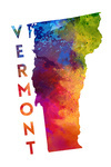Vermont - State Abstract Watercolor - Contour - Lantern Press Artwork