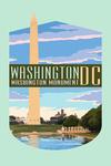 Washington, DC - Washington Monument - Contour - Lantern Press Artwork