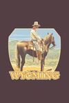 Wyoming - Cowboy Side View - Contour - Lantern Press Artwork