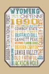 Wyoming - Rustic Typography - Contour - Lantern Press Artwork