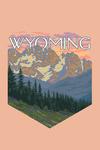 Wyoming - Spring Flowers - Contour - Lantern Press Artwork