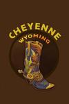 Cheyenne, Wyoming - Boot - Contour - Lantern Press Artwork