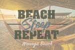 Wasaga Beach, Ontario, Canada - Beach, Sleep, Repeat - Hammocks on Beach - Lantern Press Photography