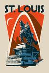 St Louis, Missouri - Woodblock - Contour - Lantern Press Artwork