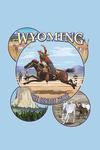 Wyoming - The Cowboy State - Sites & Rodeo Montage - Contour - Lantern Press Artwork