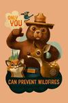 Smokey Bear & Friends - Only You - Contour - Lantern Press Artwork