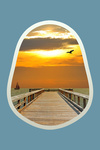 Pier at Sunset - Contour - Lantern Press Photography
