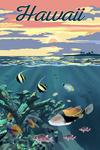 Hawaii - Colorful Fish & Sunset - Lantern Press Artwork