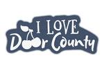Door County, Wisconsin - I Love Door County - Contour - Lantern Press Artwork