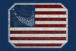 Nantucket, Massachusetts - Rustic American Flag - Contour - Lantern Press Artwork