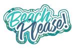 Beach Please - Tropical Fronds & Leaves - Contour - Lantern Press Artwork