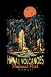 Hawaii Volcanoes National Park, Hawaii  - Distressed Vector - Lantern Press Artwork