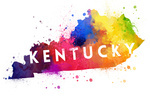 Kentucky - State Abstract Watercolor - Contour - Lantern Press Artwork