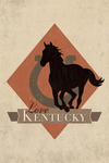 Kentucky - Love - Argyle with Horse - Contour - Lantern Press Artwork