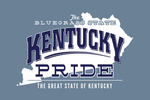 Kentucky - State Pride - Blue on White - Contour - Lantern Press Artwork