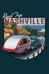Nashville, Tennessee - Retro Camper Road Trip - Contour - Lantern Press Artwork
