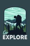 Pacific Crest Trail - Go Explore - Backpacker - Contour - Lantern Press Artwork