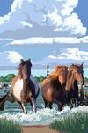 Pony Swim - Lantern Press Artwork
