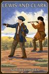 Oakwells, North Dakota - Lewis & Clark - Lantern Press Artwork