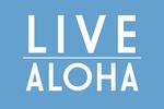 Live Aloha - Simply Said - Blue - Lantern Press Artwork