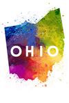 Ohio - State Abstract Watercolor - Contour - Lantern Press Artwork