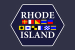 Rhode Island - Nautical Flags - Contour - Lantern Press Artwork