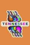 Tennessee - Guitar Pop Art - Contour - Lantern Press Artwork