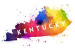 Kentucky - State Abstract - Contour - Lantern Press Artwork