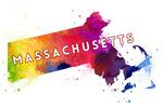 Massachusetts - State Abstract - Contour - Lantern Press Artwork