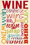 Wine - Multiple Languages - Typography - Lantern Press Artwork