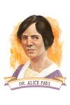 19th Amendment Centennial Art- Alice Paul - Contour - Lantern Press Artwork