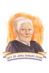 19th Amendment Centennial Art - Anna Howard Shaw - Contour - Lantern Press Artwork