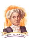 19th Amendment Centennial Art - Carrie Chapman Catt - Contour - Lantern Press Artwork