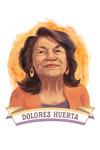 19th Amendment Centennial Art - Dolores Huerta - Contour - Lantern Press Artwork