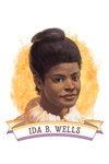 19th Amendment Centennial Art - Ida B Wells - Contour - Lantern Press Artwork