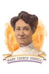 19th Amendment Centennial Art - Mary Church Terrell - Contour - Lantern Press Artwork