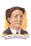 19th Amendment Centennial Art - Mary Edwards Walker - Contour - Lantern Press Artwork