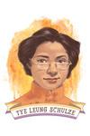 19th Amendment Centennial Art - Tye Leung Schulze - Contour - Lantern Press Artwork
