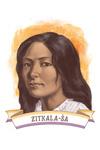 19th Amendment Centennial Art - Zitkala-Sa - Contour - Lantern Press Artwork