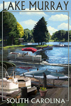 Lake Murray, South Carolina - Pontoon Boats - Lantern Press Artwork