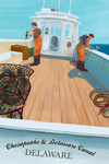 Chesapeake & Delaware Canal, Delaware - Crab Boat - Lantern Press Artwork
